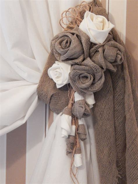 how to make flower curtain tie backs 25 best ideas about curtain ties on pinterest diy