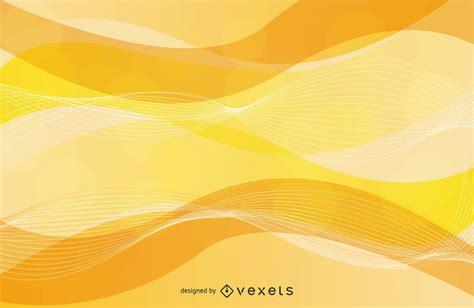 wavy spiral  yellow background vector