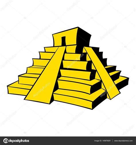 imagenes de mayas animados dibujos animados icono de pir 225 mide maya vector de stock