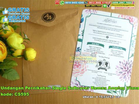 Jual Undangan Pernikahan Unik 24 undangan pernikahan single softcover kemas lop viona souvenir pernikahan