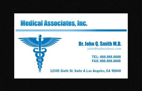 doctor business card template free 21 awesome business card template for doctors sle