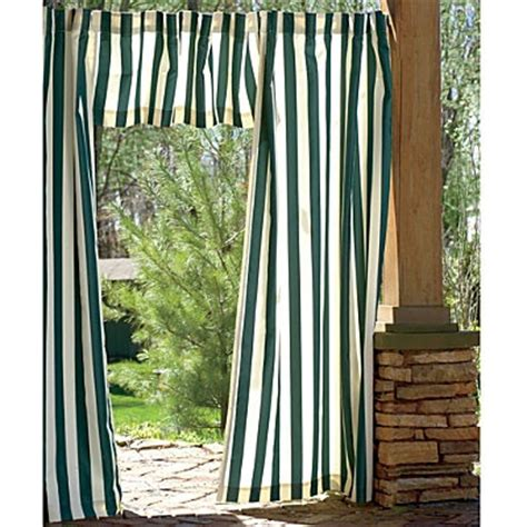 Outdoor Cabana Curtains Cabana Outdoor Curtains And Matching Valance Stay In The Shade Pinterest Outdoor Curtains