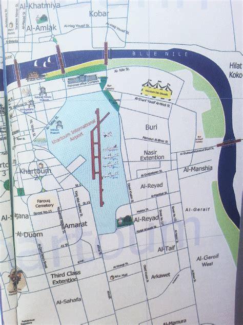 map of city of khartoum city map for easier orientation safari junkie