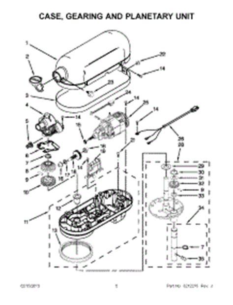 Kitchenaid Parts List Mixer Parts For Kitchenaid Kp26m1xwh5 Mixer Appliancepartspros