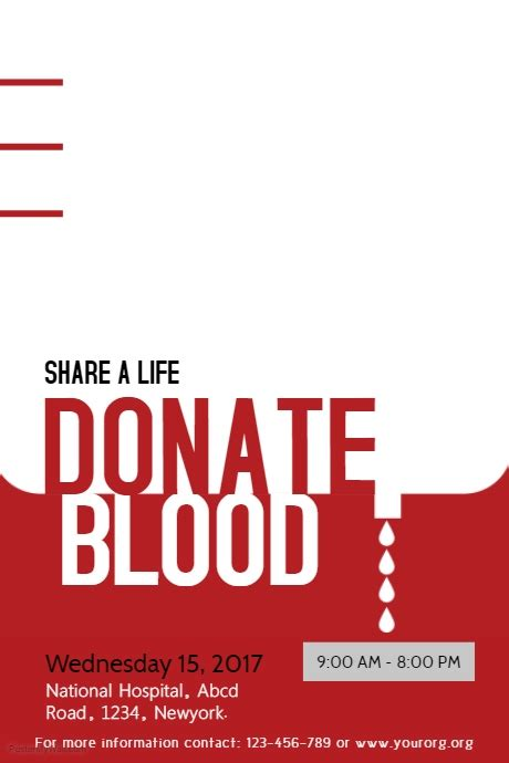 poster design blood donation typographic blood donation poster template postermywall