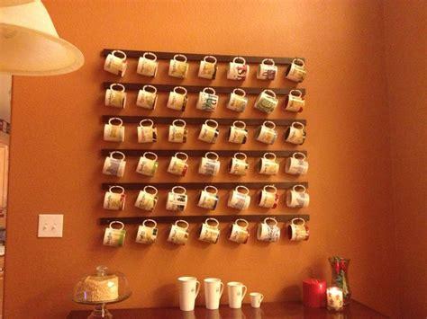 coffee mug rack diy cave display and