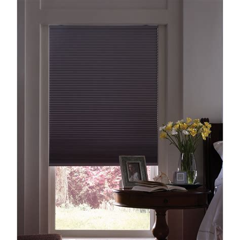 room darkening blinds shop levolor 72 in l dove room darkening cordless polyester cellular shade at lowes