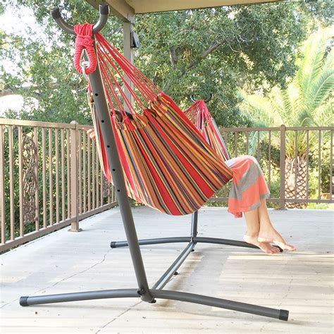 swing hammock bed patio swing double hammock bed steel stand includes