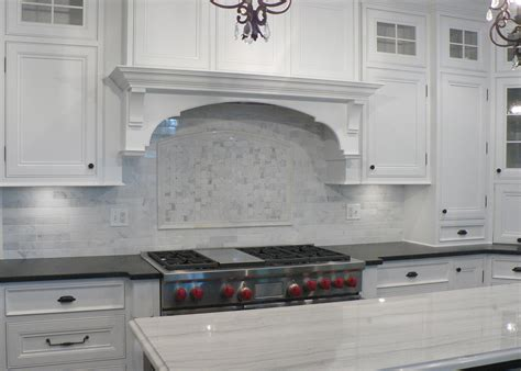 Backsplash With Marble Countertops White Marble Backsplash Kitchen Countertops