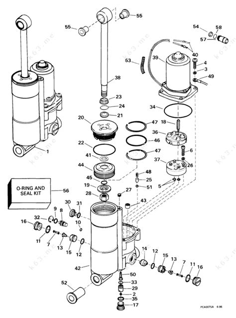 Johnson 1999 35 J35r3eem Power Trim Tilt Parts Catalog