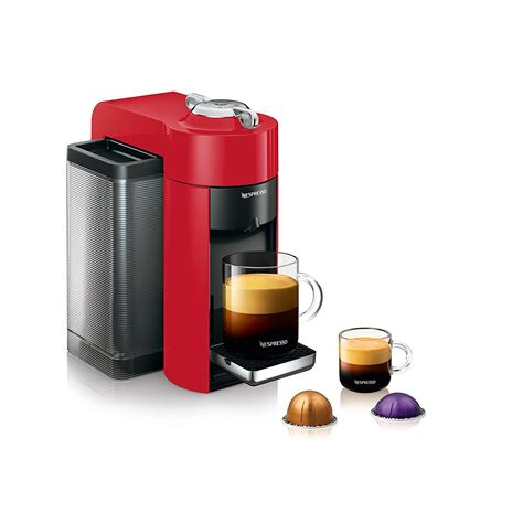 longhi espresso machine delonghi nespresso vertuo evoluo red single serve espresso