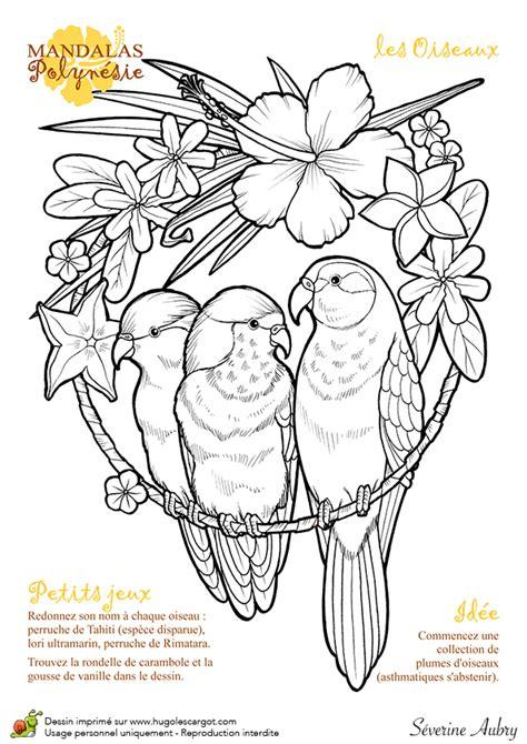 Dessin 224 Colorier Mandalas Polyn 233 Sie Les Oiseaux Dessin De Mandala Coeur L
