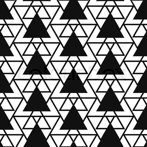 black and white minimal pattern simple reticulate triangle net shape black and white