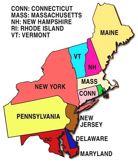 northeast us map with capitals blank map of the united