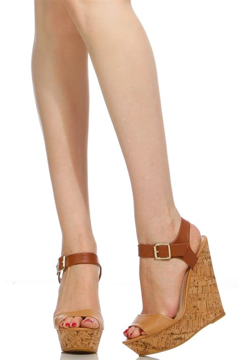 Booth Wedges two tone faux leather cork wedges cicihot wedges
