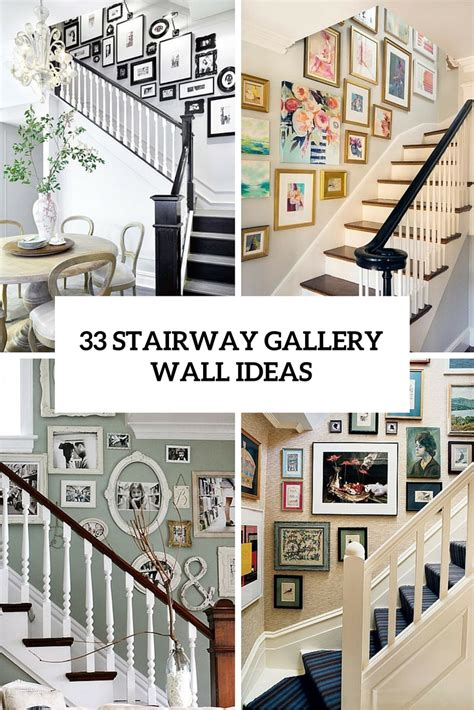 Home Design Kitchen Upstairs 33 Stairway Gallery Wall Ideas To Get You Inspired
