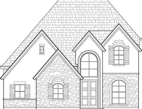how to draw a house 2 awesome and easy way for everyone two story house plan c8107