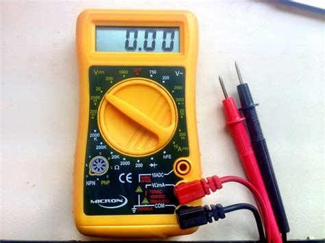 Probe Multimeter scale multimeter basics measuring resistance and