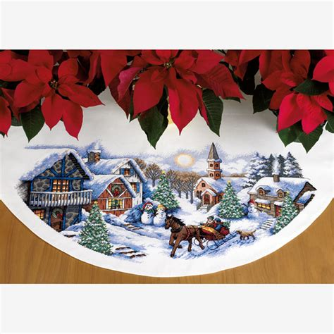 sleigh ride tree skirt 70 08830 simplicity