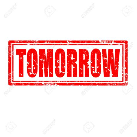 tomorrow of the words clipart