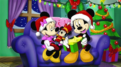 wallpaper christmas mickey mouse minnie mickey mouse christmas 1920x1080