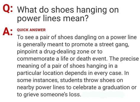 what is the meaning of slippers shoes on electric wire meaning style guru fashion