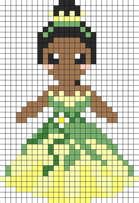 gridlock pattern princess tiana perler bead pattern bead sprite cross