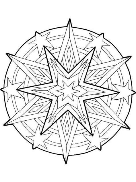 coloring pages of the christmas star mandala christmas stars outline coloring pages mandala