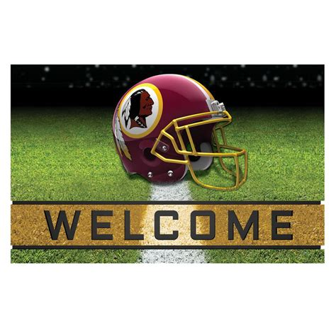 redskins paint colors home depot fanmats nfl washington redskins 18 in x 30 in rubber