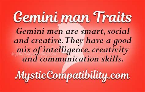 gemini man personality traits mystic compatibility