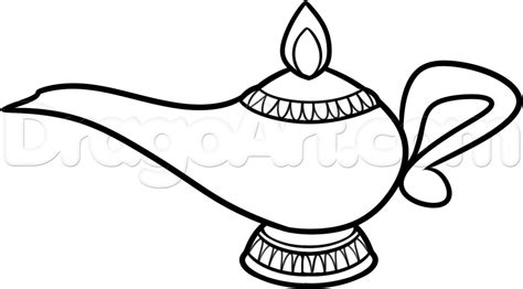 How To Draw A Genie L Step By Step Stuff Pop Culture Drop Coloring Page