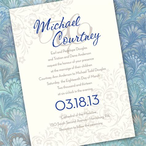 blue and silver wedding invitation ideas wedding invitations silver wedding invitations cobalt