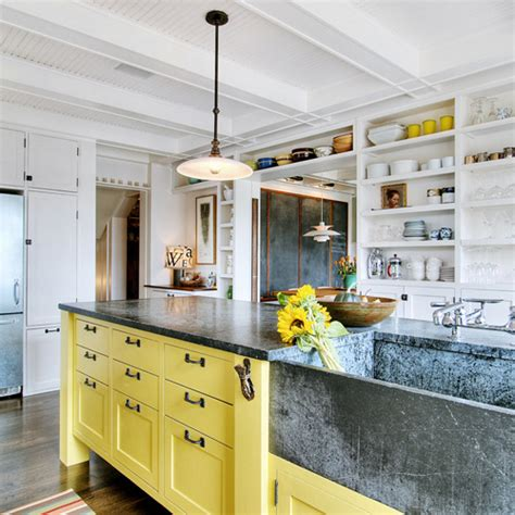 Yellow Kitchen Designs Yellow Kitchen Islands