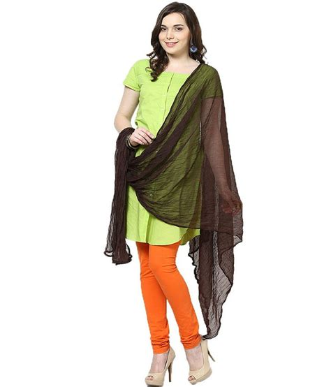 lifestyle m bel castle lifestyle brown dupatta price in india buy castle