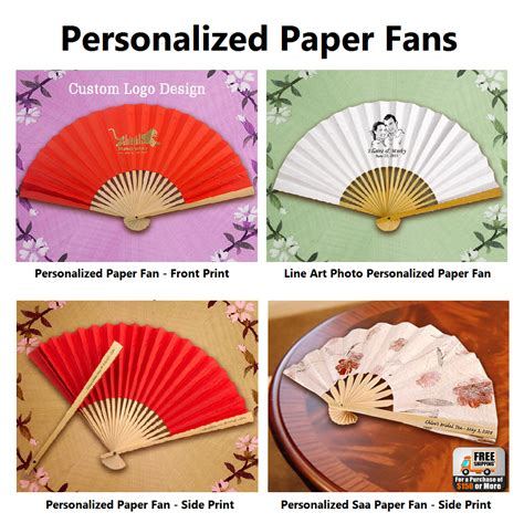 personalized paper fans personalized paper fans images