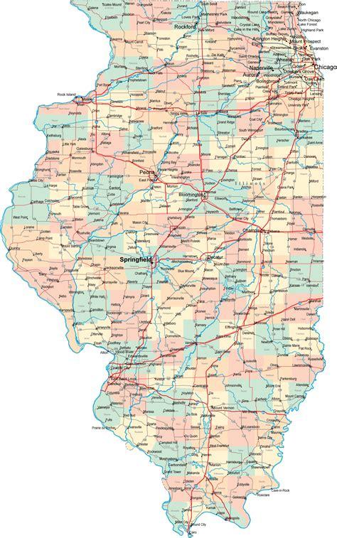 illinois on usa map state map of illinois