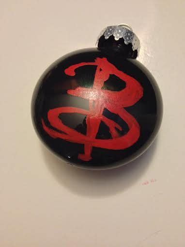 buffy the vire slayer inspired christmas ornament