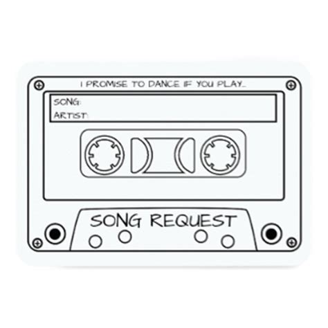 song request card template cassette invitations announcements zazzle