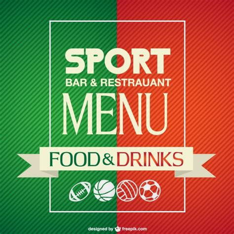 sports bar menu template sport bar menu template vector free