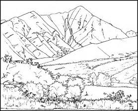 mountains coloring page coloring pages of mountains coloring home