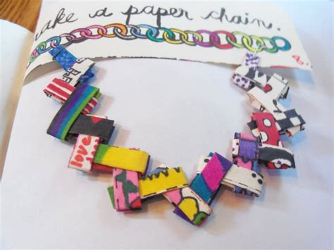 How To Make Paper Chains - wreck this journal make a paper chain after by