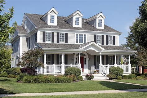 classic american style house with beautiful front deck