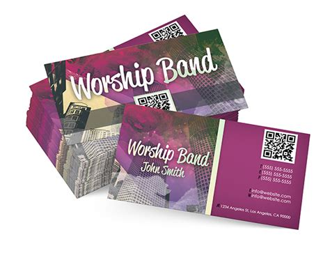 band business cards templates free worship band card digital316 net