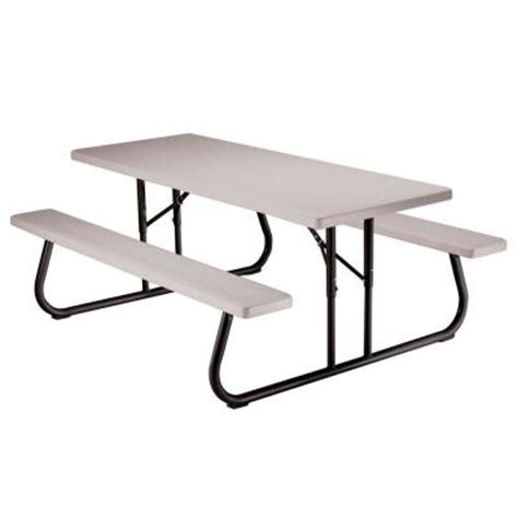 8 ft folding table lowes lifetime 6 ft folding picnic table with benches 22119
