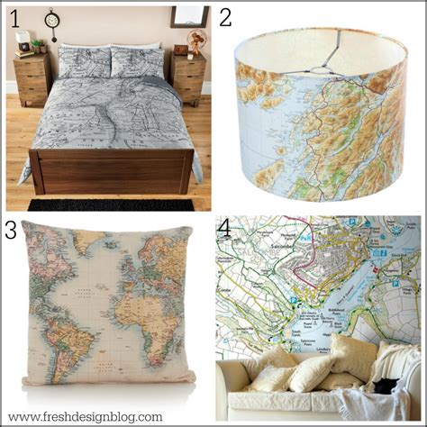 home interior design maps get your d 233 cor mapped out with these map themed home ideas