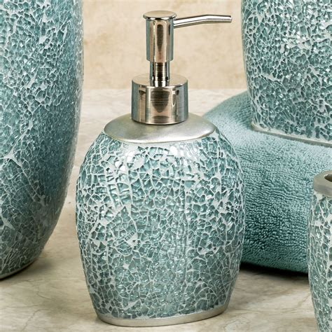 Calm Waters Light Aqua Mosaic Bath Accessories Aqua Bathroom Accessories