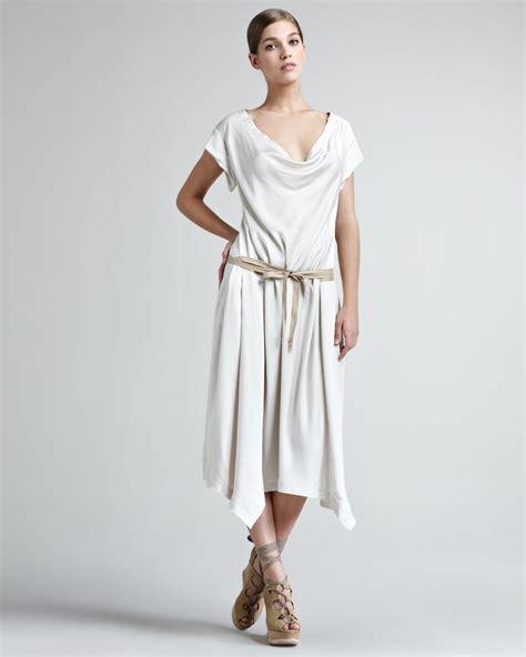 donna karan draped dress donna karan sport satin draped dress