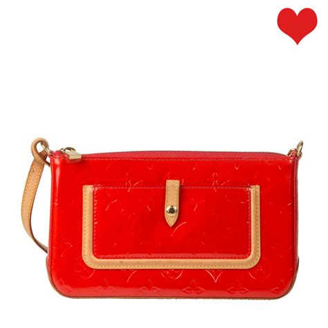 louis vuitton red monogram vernis mallory bag labelcentric
