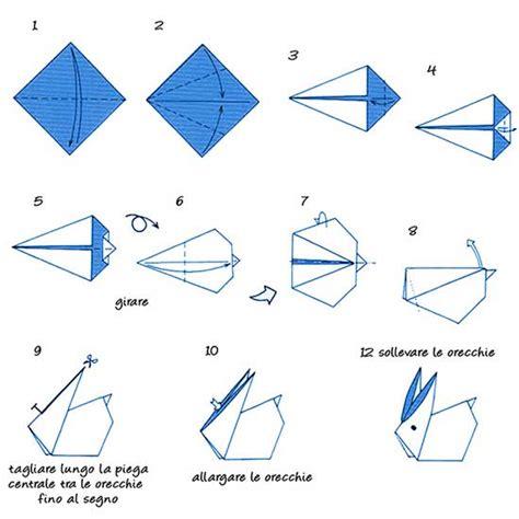 tutorial origami coniglio grafica per pasqua hobbydonna it