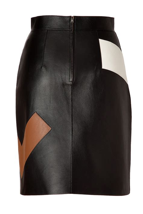 Patchwork Leather - fendi patchwork leather skirt in black lyst